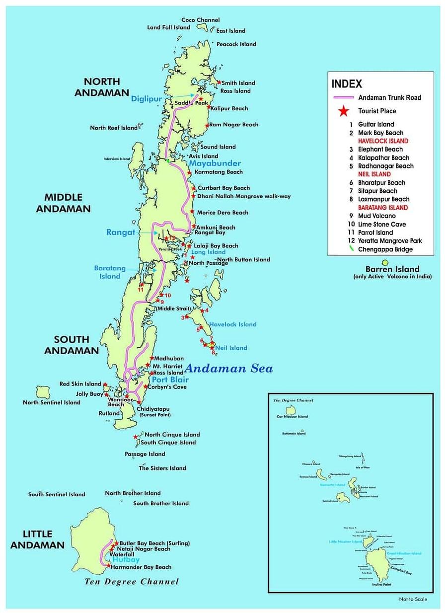 Andamand Map