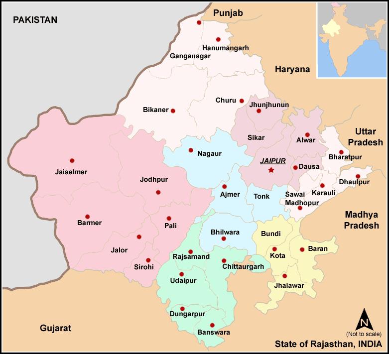 Rajasthan's Map