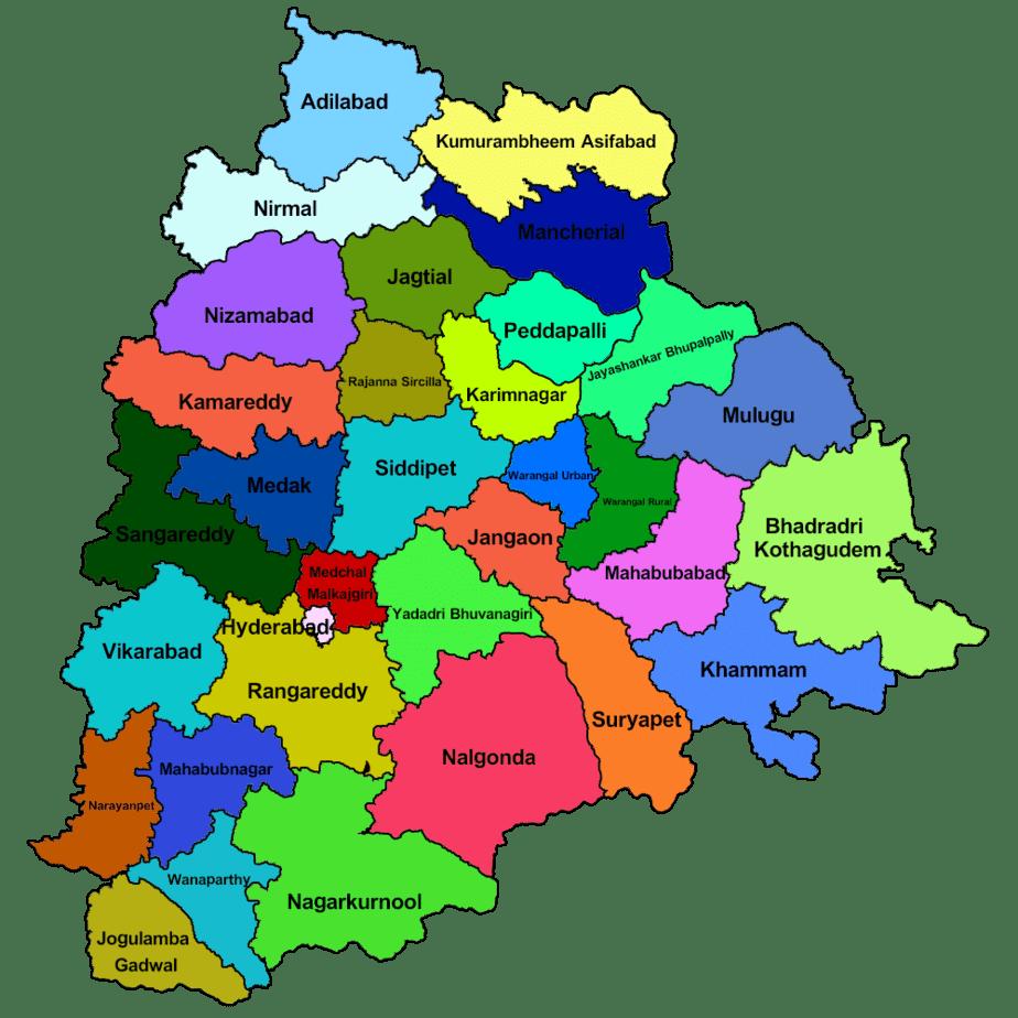 Map of Telangana